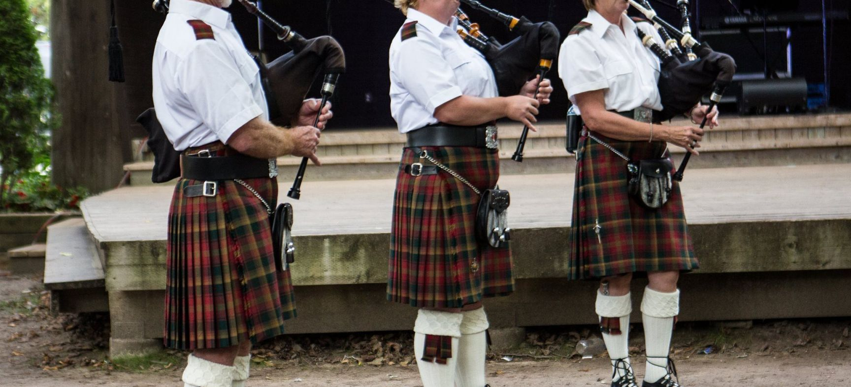 Pipers warming up. John Cavers Photography